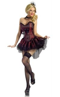 Sexy Saloon Girl Dress Adult Halloween Costume 120594
