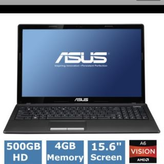 BRAND ASUS X53Z RS64 Laptop HD 4GB 1 4 GHz 500GB 15 6 Quad Core webcam