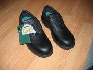 FLORSHEIM BLACK EUROCASUAL OXFORD SHOES (work occupational footwear