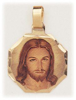 HEAD OF JESUS CHRIST PENDANT MEDAL CHRISTIAN CATHOLIC GIFT ITALY