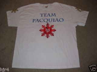 Manny Pacquiao Team Pacman Boxing T Shirt 2X 2XL New