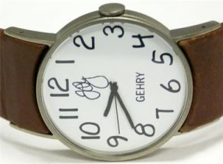 frank gehry women s brown leather watch gh1000