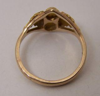 Vintage 10K Black Hills Gold Ring Sz 6 75 Rose Pink Green Yellow Grape