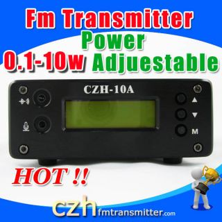 10W FM Transmitter Broadcast 99 Steps 0 10W Antenna Kit