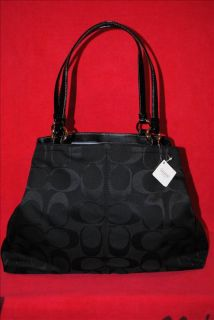 Coach Authentic Large Gabby F14863 Black Signature Tote
