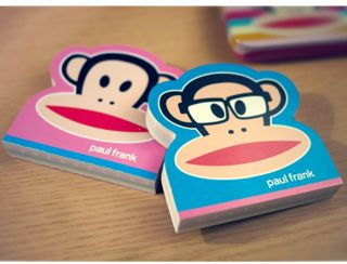 Paul Frank Julius Stationery Set vol3_stripe pink_notebook,notepad