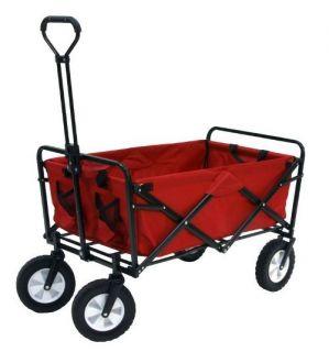 Folding Portable Collapsible Utility Wagon Toddler Garden Cart