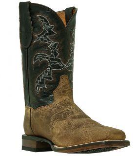 Mens Cowboy Boots Dan Post Franklin D M Broad Square Toe Brown DP2815