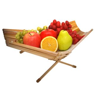 Fruit Basket Bowl Chef Collection Foldable Bamboo 100 Eco Friendly
