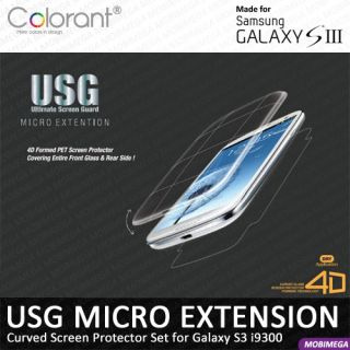 Extension Curved Screen Protector Samsung Galaxy S3 III I9300