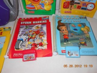 Fisher Price Power Touch Learning System Plus 6 Books and 4 Cartridges