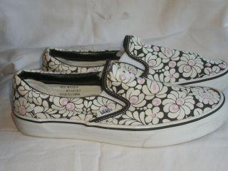 VANS Black Pink Floral OTW Off The Wall Skate Shoe Sneaker Wmn 10 10 5
