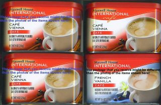 General Foods International Maxwell House Instant Coffee 4 Cans