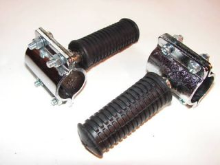Highway Foot Pegs for Cycle or Chopper Clamp on 1 Inch