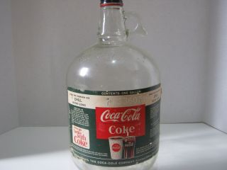 Coca Cola 1 Gallon Glass Jug Coke Bottle Coke Collectable