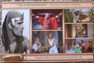 Ten Commandments Heston Screen Used Sword Handle COA