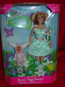 NIB EASTER BARBIE  EASTER EGG PARTY BARBIE & KELLY GIFT SET 1999