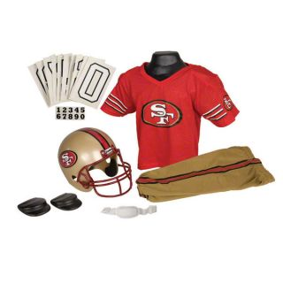 San Francisco 49ers Kids Youth Football Helmet Uniform Set