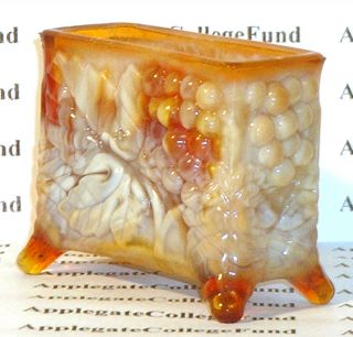 Boyd Glass Toothpick Holder Slag Carmel Brown Fund
