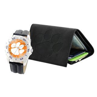 Mens Game Time Watch Wallet Gift Set Team Logo Watch Embossed Wallet