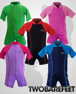 New Two Bare Feet Baby Kids Fr Lycra Arm Wetsuit Swim Suit