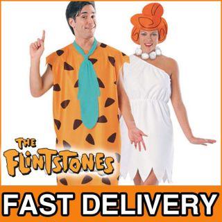 Fred Wilma Flintstones Fancy Dress Adult CostumeS