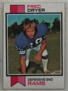 1973 Topps 389 Fred Dryer Los Angeles Rams VG EX