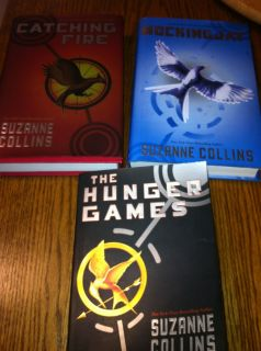 THE HUNGER GAMES TRILOGY 3 BOOKS 1 PB & 2 HD W/DJ FIRST EDITIONS NO