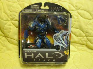 Halo Reach Series 2 Elite Blue Officer McFarlane Figure Gamestop Rare