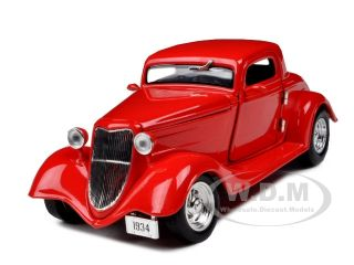 1934 Ford Coupe Hard Top Red 1 24 Diecast Model Car
