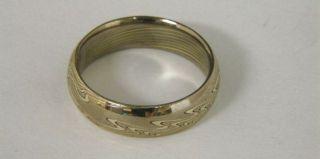 Michael Daniels 18kt White Gold Mokume Gane Band Ring