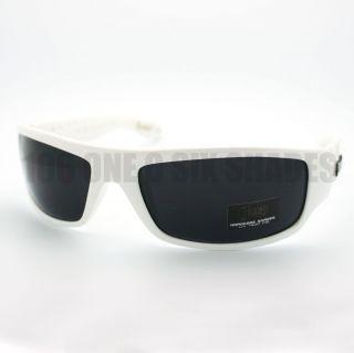 Original LOCS Sunglasses Gangster Cholo Shades WHITE Frame Black Lens