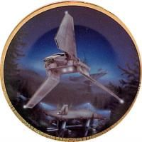 Star Wars Imperial Shuttle Space Vehicles Plate 1996