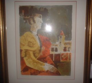 Sunol Alvar Artists Proof Signed Limited Edition Print RARE Matador