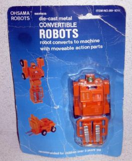 Ohsama Convertible Robots Die Cast Metal Vintage Transfoms to Fork