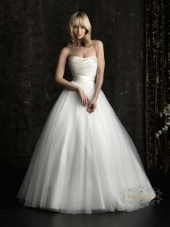Sweetheart White Ivory Organza Ball Gown Tulle Desgin Wedding Dress