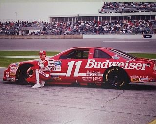 NASCAR 1993 Bill Elliott 11 Budweiser Beer Ford Car Driver at Daytona