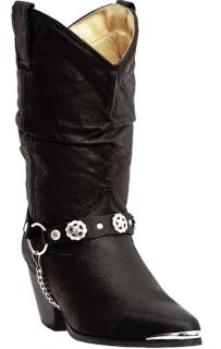 Bailey Black Womens Slouch Harness Cowboy Western Boot Size 9 W