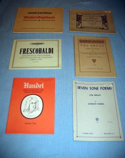 Organ Books   Sheet Music Pipe Church Organist Vintage   Lot #3