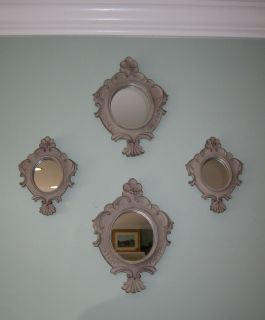 Shabby French Country Cottage Chic Mirror Wall Decor Weathered Stone
