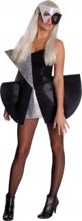 Lady Gaga Costume Black Sequin Dress SM Small 6 to 10