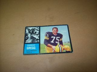 Vintage 1960s Gregg Forrest GreenBay Packers Topps Trading Card No