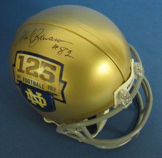 Mark Bavaro Notre Dame Signed Autographed Mini Helmet JSA