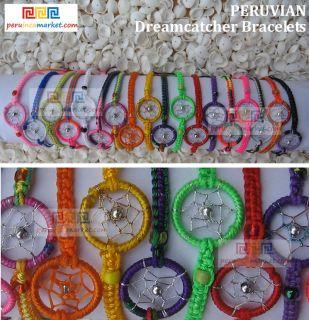 50 Friendship Bracelets Dreamcatcher Wholesale Bulk Lot Peruvian