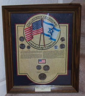 Kennedy Mint American Israeli Friendship Tribute Plaque Numbered Priv