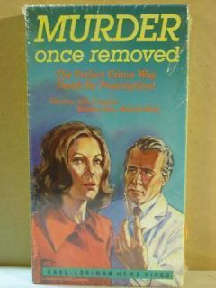 Murder Once Removed 1971 John Forsythe VHS