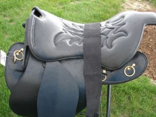18 Black Trooper Endurance Gaited English Western Leather Saddle
