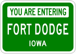 fort dodge iowa you are entering aluminum city sign