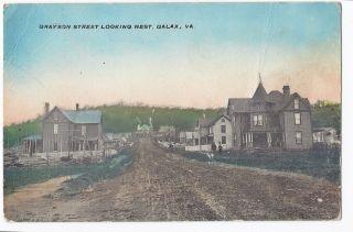va galax grayson street vintage ca 1910 postcard