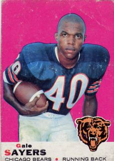 Gale Sayers 1969 Topps Card 51 Chicago Bears